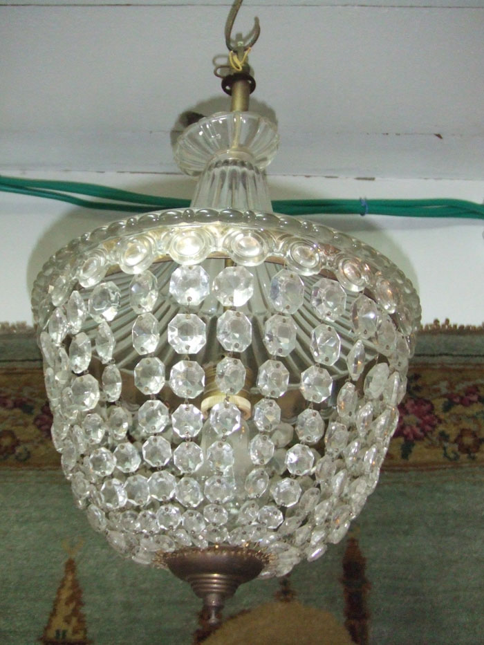 Check out my other items - VINTAGE CRYSTAL & GLASS Tent And Bag Chandelier ! EBay